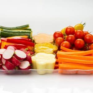 פלטות ירקות ורטבים